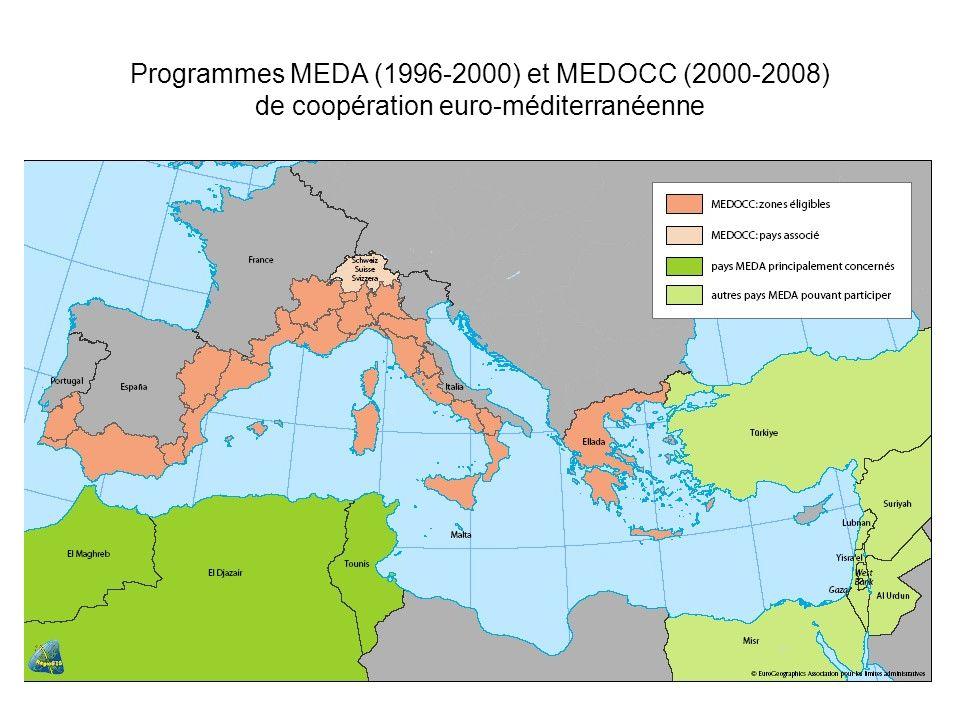 Programmes MEDA (1996-2000) et MEDOCC (2000-2008) de coopération euro-méditerranéenne