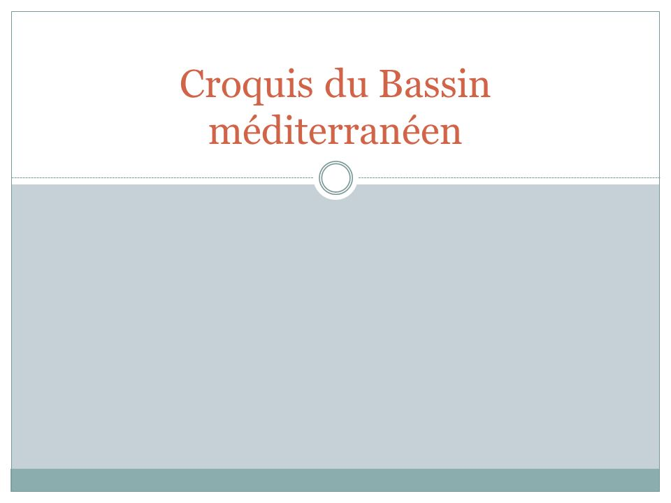 Croquis du Bassin méditerranéen