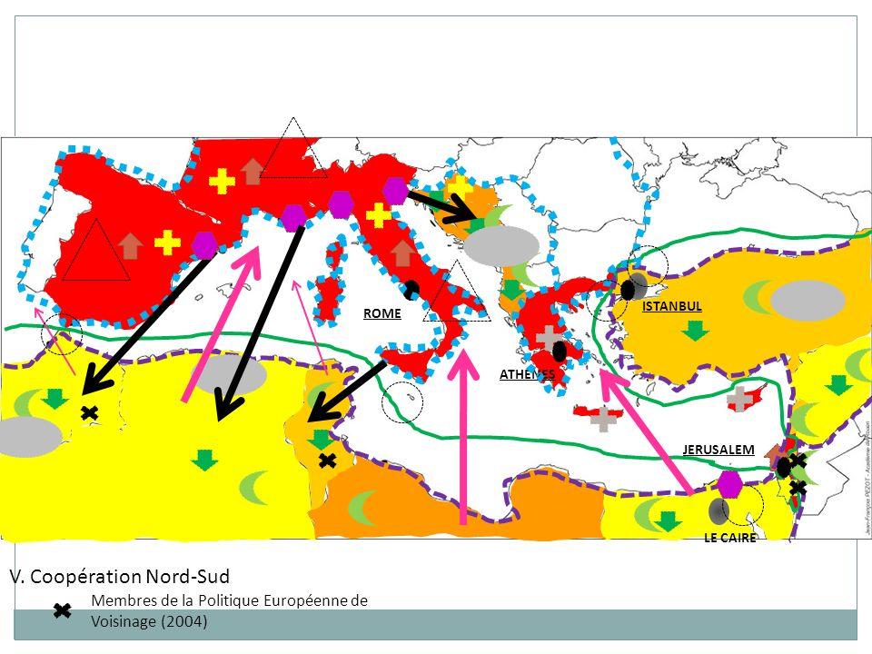 ISTANBUL LE CAIRE ROME JERUSALEM ATHENES V. Coopération Nord-Sud Membres de la Politique Européenne de Voisinage (2004)
