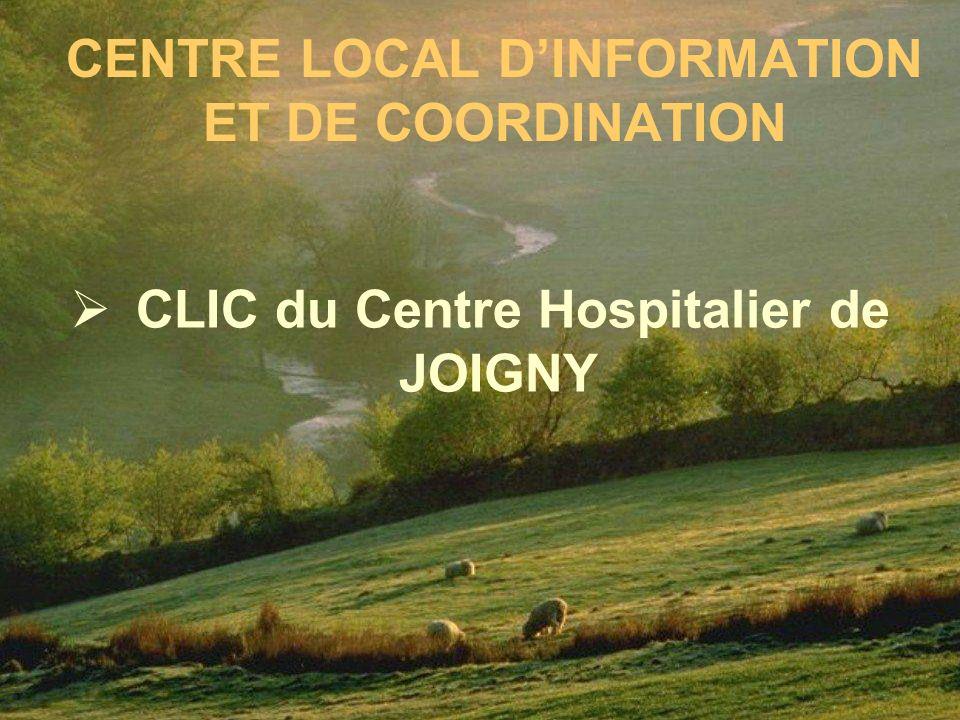 CENTRE LOCAL DINFORMATION ET DE COORDINATION CLIC du Centre Hospitalier de JOIGNY