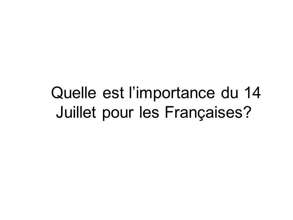 Quelle est limportance du 14 Juillet pour les Françaises?