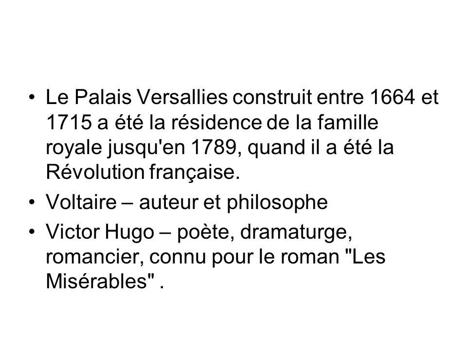 Le Palais Versallies construit entre 1664 et 1715 a été la résidence de la famille royale jusqu en 1789, quand il a été la Révolution française.