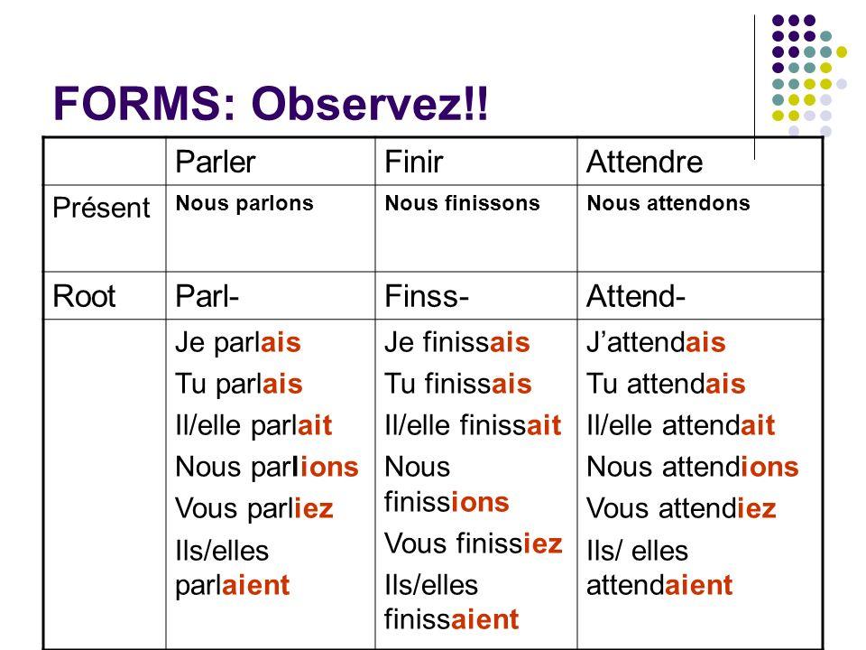 FORMS: Observez!.