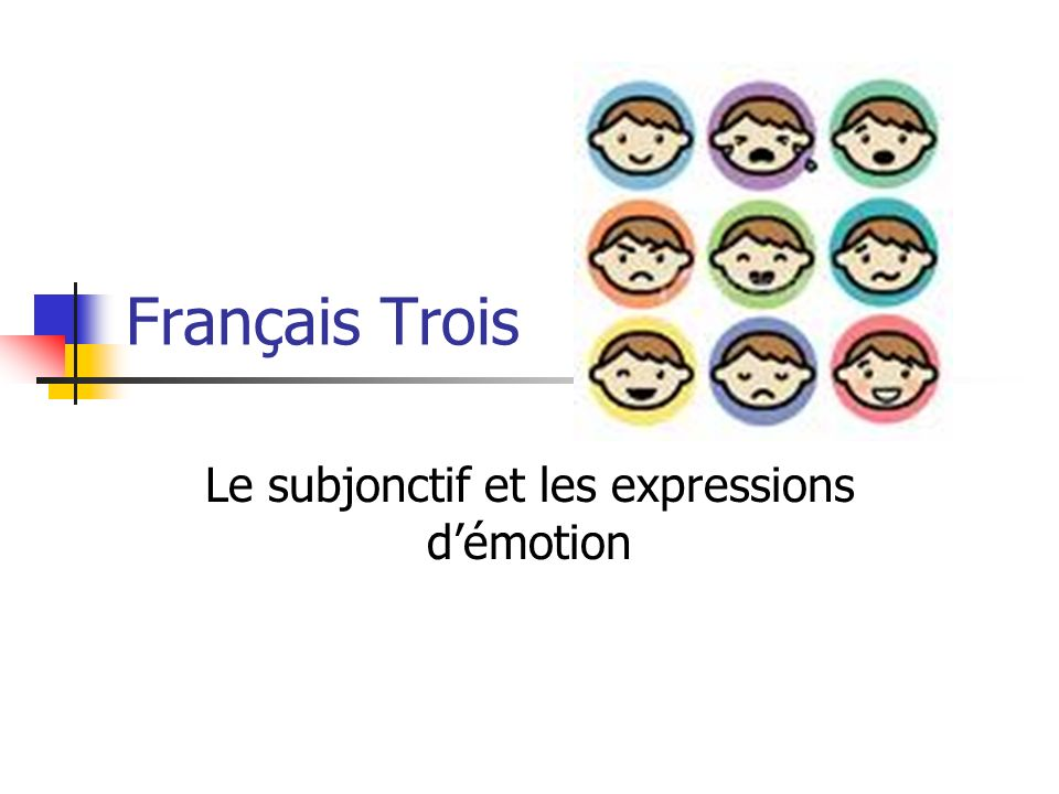 Français Trois Le subjonctif et les expressions démotion