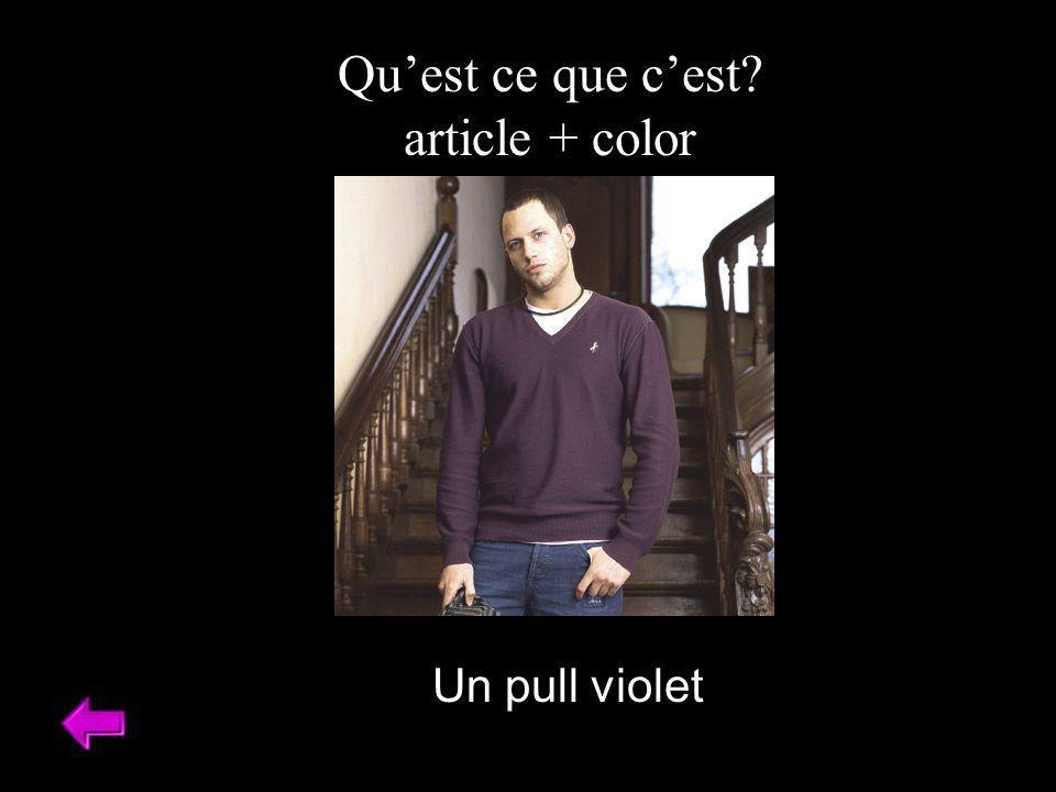 Quest ce que cest article + color Un pull violet