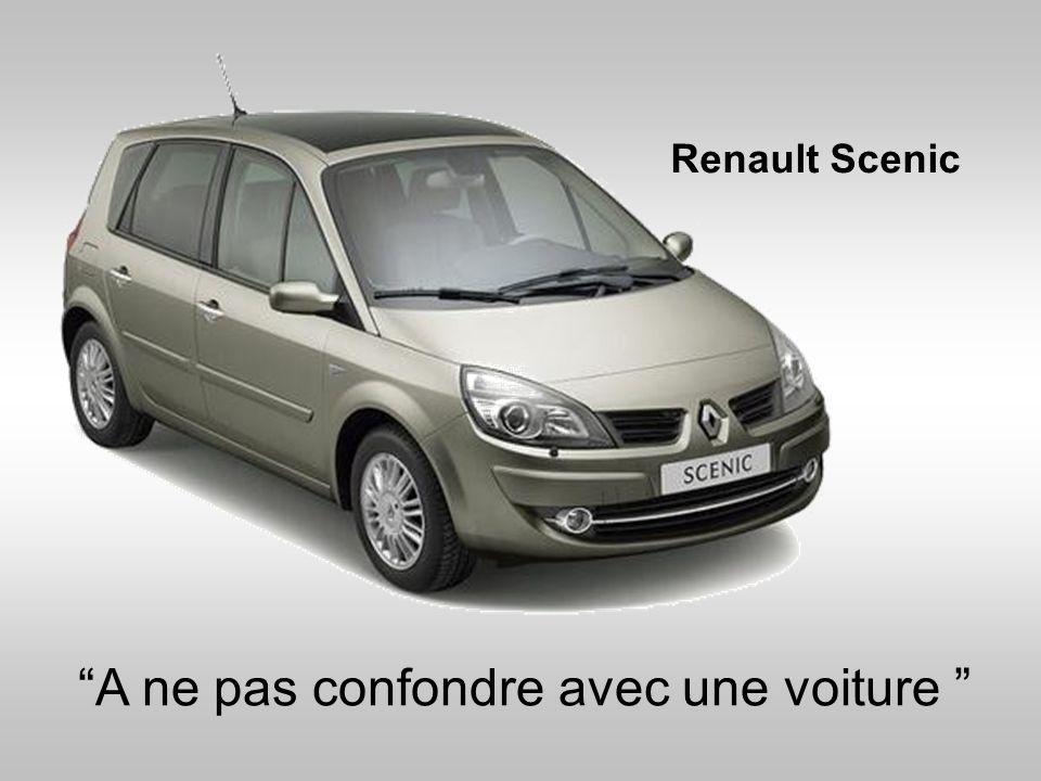 A ne pas confondre avec une voiture Renault Scenic