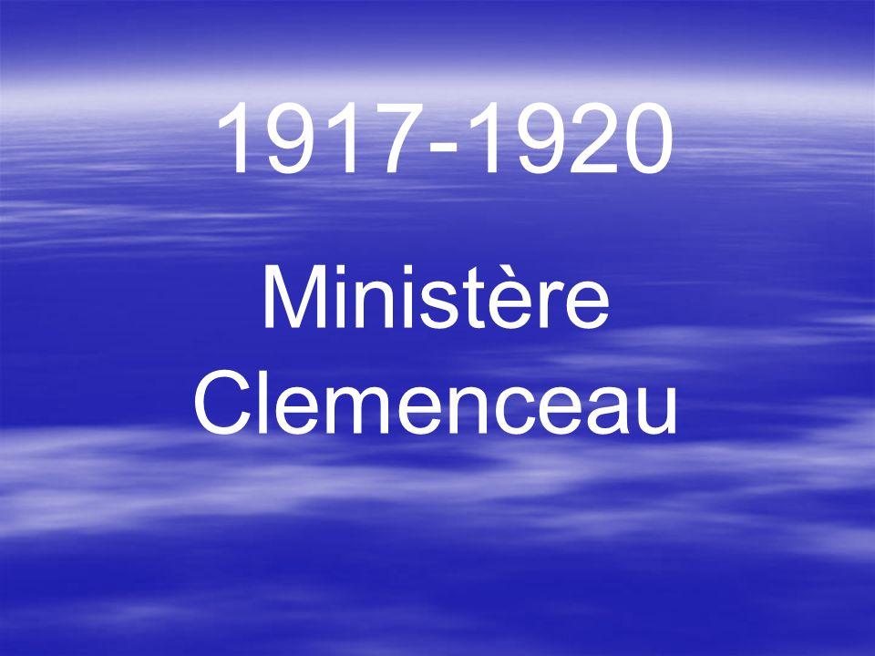 1917-1920 Ministère Clemenceau