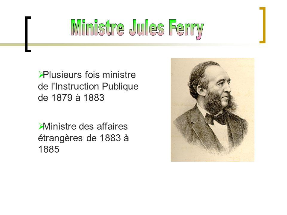 Plusieurs fois ministre de l'Instruction Publique de 1879 à 1883 Ministre des affaires étrangères de 1883 à 1885