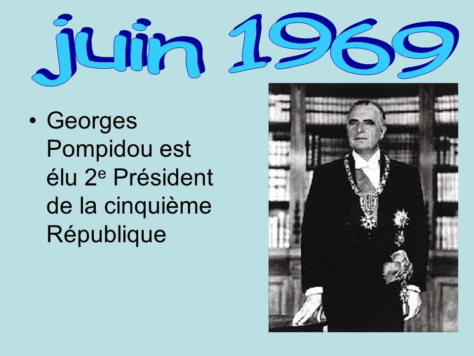 Georges Pompidou est élu 2 e Président de la cinquième République