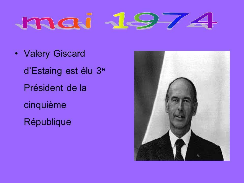 Valery Giscard dEstaing est élu 3 e Président de la cinquième République