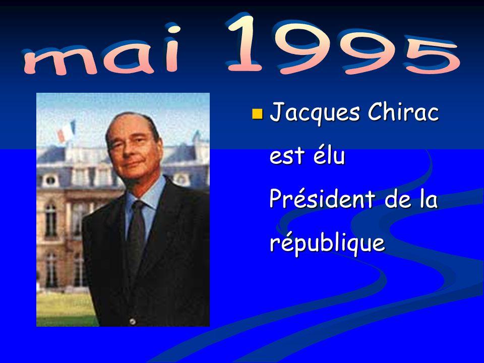 Jacques Chirac est élu Président de la république Jacques Chirac est élu Président de la république
