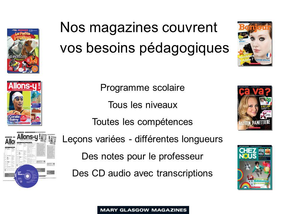 Pourquoi utiliser des magazines pour enseigner le français ? Des sujets d'actualité Les nouvelles tendances Interculturel et interdisciplinaire Une le