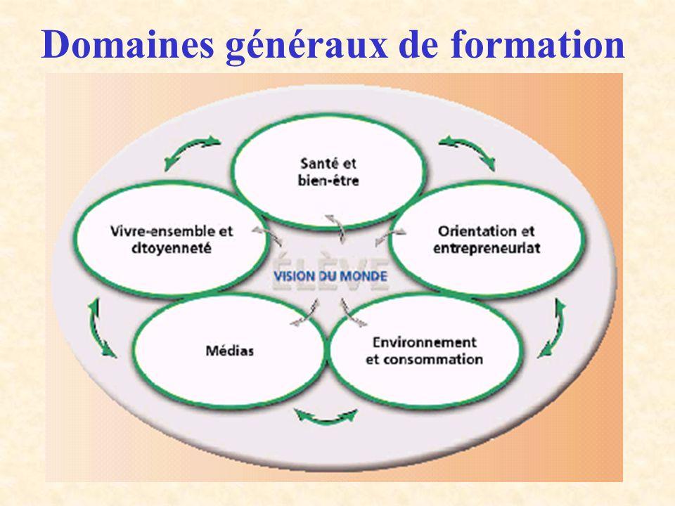 Domaines généraux de formation