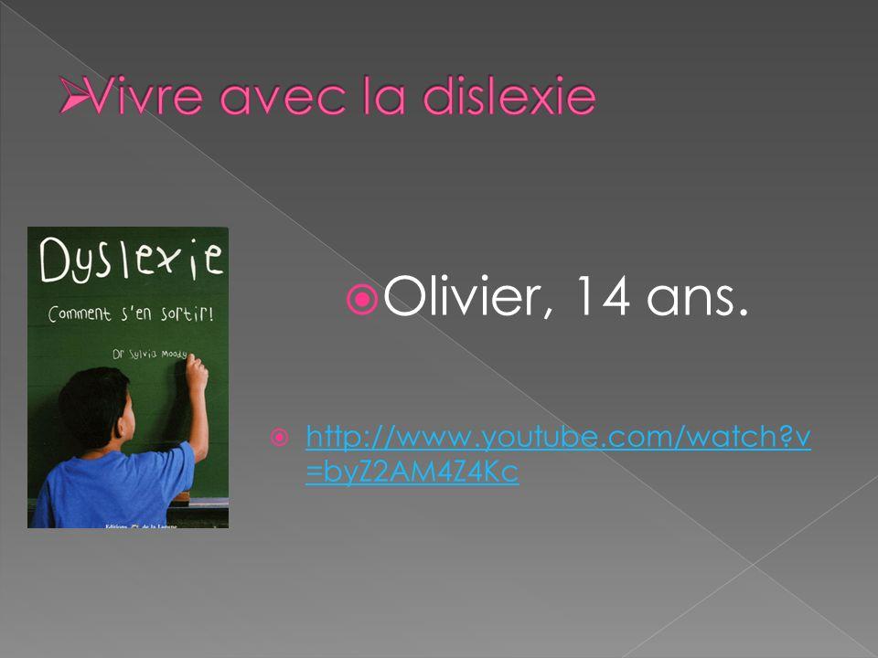 Olivier, 14 ans.