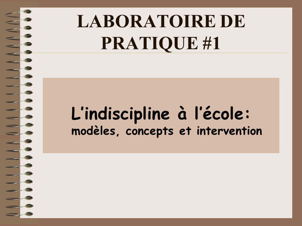 LABORATOIRE DE PRATIQUE #1 Lindiscipline à lécole: modèles, concepts et intervention