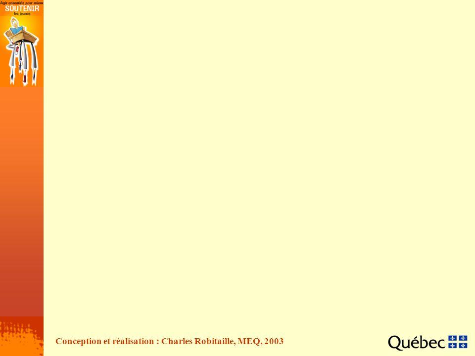 Conception et réalisation : Charles Robitaille, MEQ, 2003
