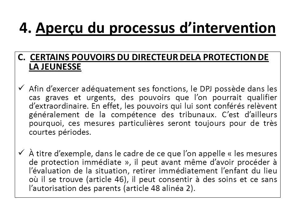 4. Aperçu du processus dintervention C.