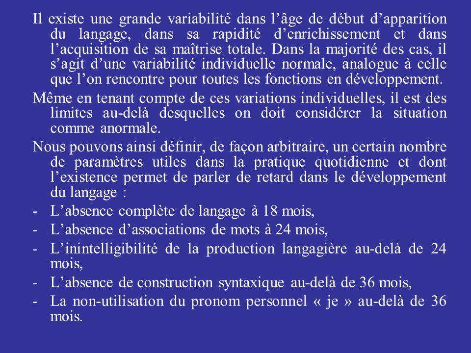 Les dysphasies réceptives ou mixtes : –Lagnosie verbale ou auditivoverbale, –Les dysphasies phonologicosyntaxiques, –Autres formes réceptives non classables.