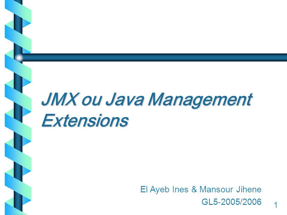 11 JMX ou Java Management Extensions 1 El Ayeb Ines & Mansour Jihene GL5-2005/2006