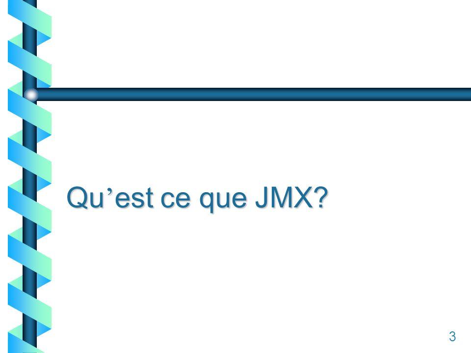 13 Qu est ce que JMX? 3