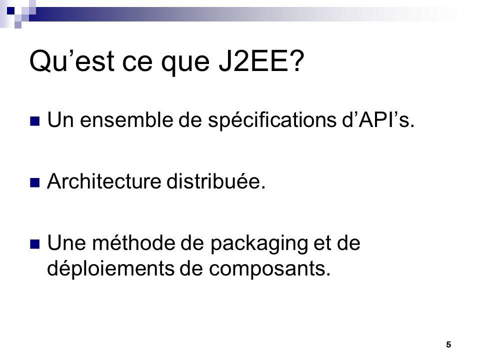 6 Pourquoi J2EE.