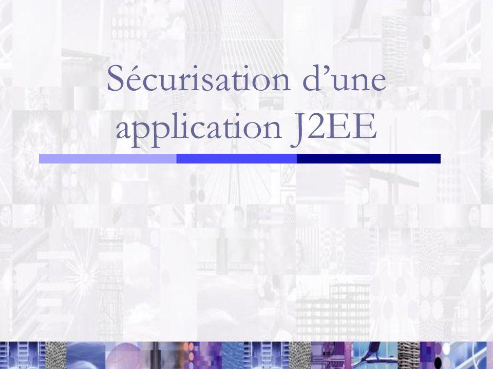 Sécurisation dune application J2EE
