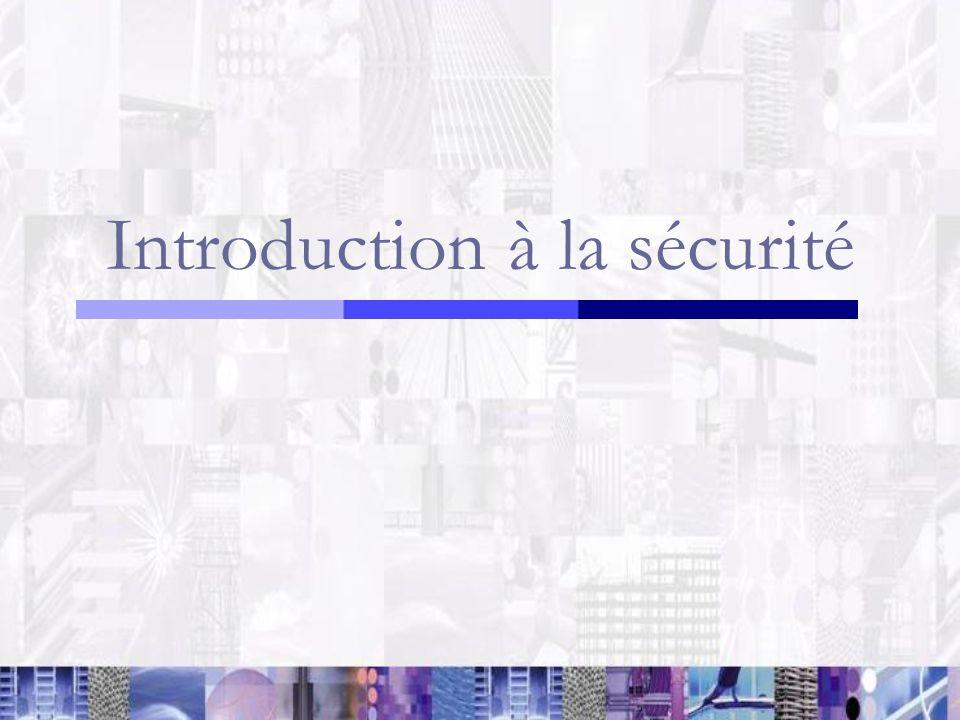 Introduction à la sécurité