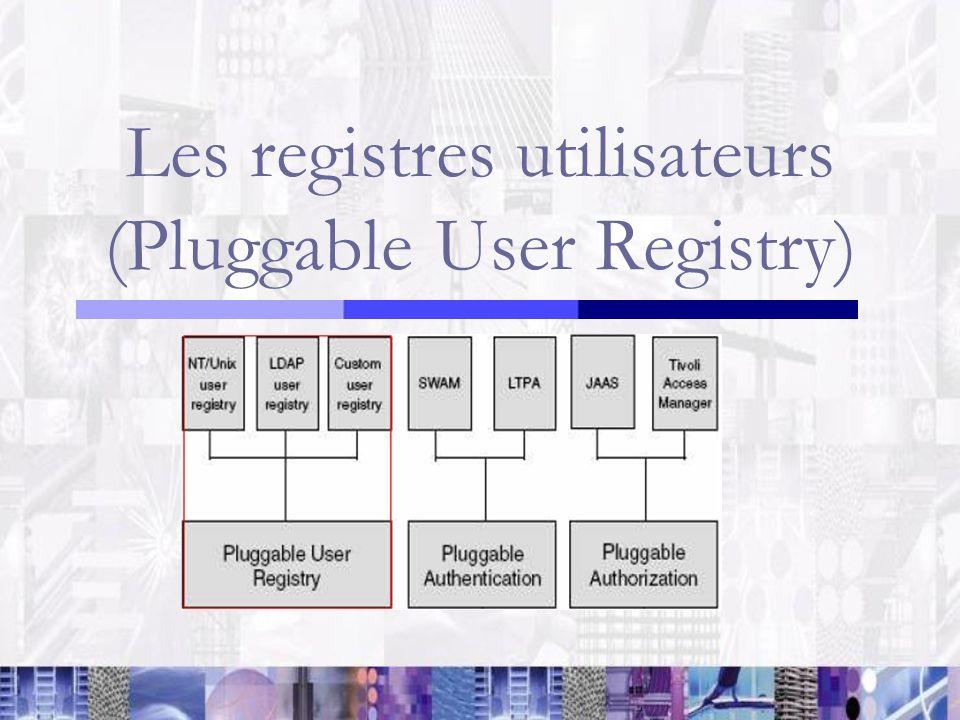 Les registres utilisateurs (Pluggable User Registry)