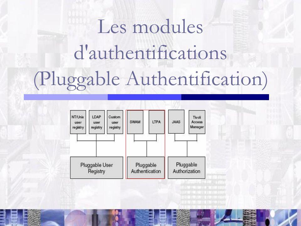 Les modules d'authentifications (Pluggable Authentification)