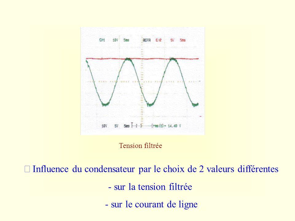 Avec le hacheur Tension d alimentation - courant de ligne - Durée de croissance du courant durée de diminution - Tension parasitée