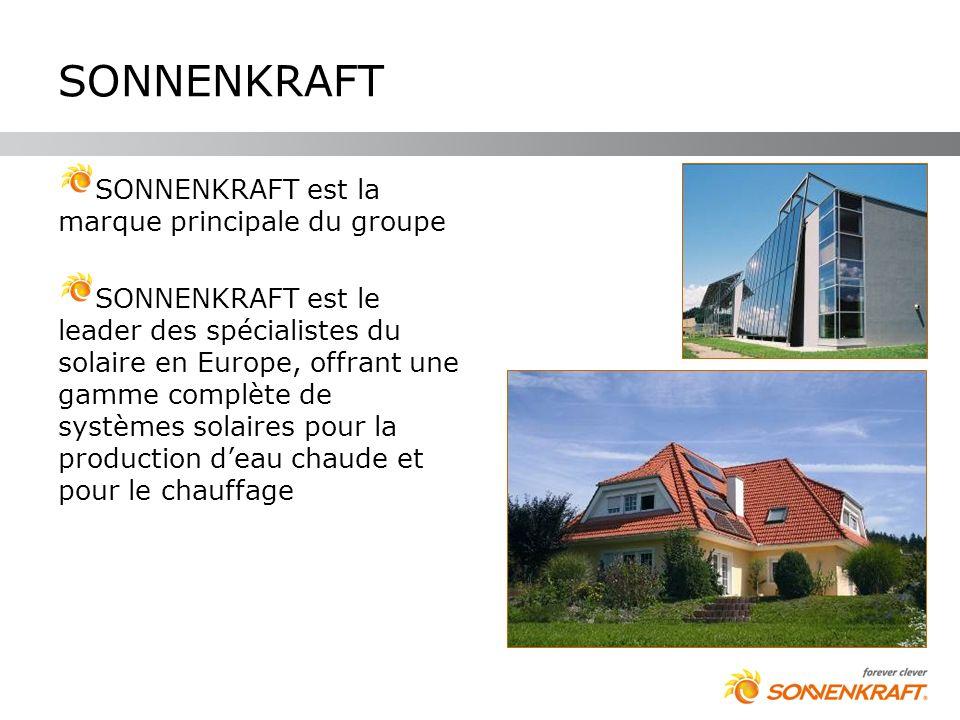 SONNENKRAFT SONNENKRAFT est la marque principale du groupe SONNENKRAFT est le leader des spécialistes du solaire en Europe, offrant une gamme complète