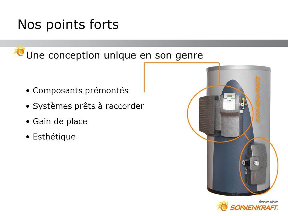 Nos points forts Une conception unique en son genre Composants prémontés Systèmes prêts à raccorder Gain de place Esthétique