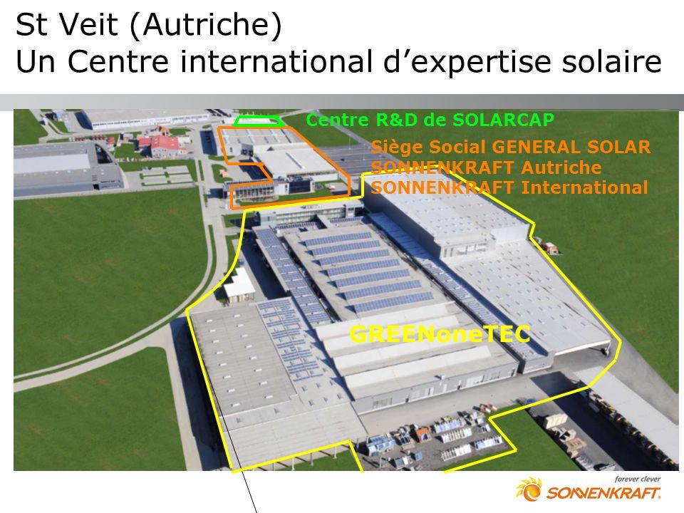 St Veit (Autriche) Un Centre international dexpertise solaire GREENoneTEC Siège Social GENERAL SOLAR SONNENKRAFT Autriche SONNENKRAFT International Ce