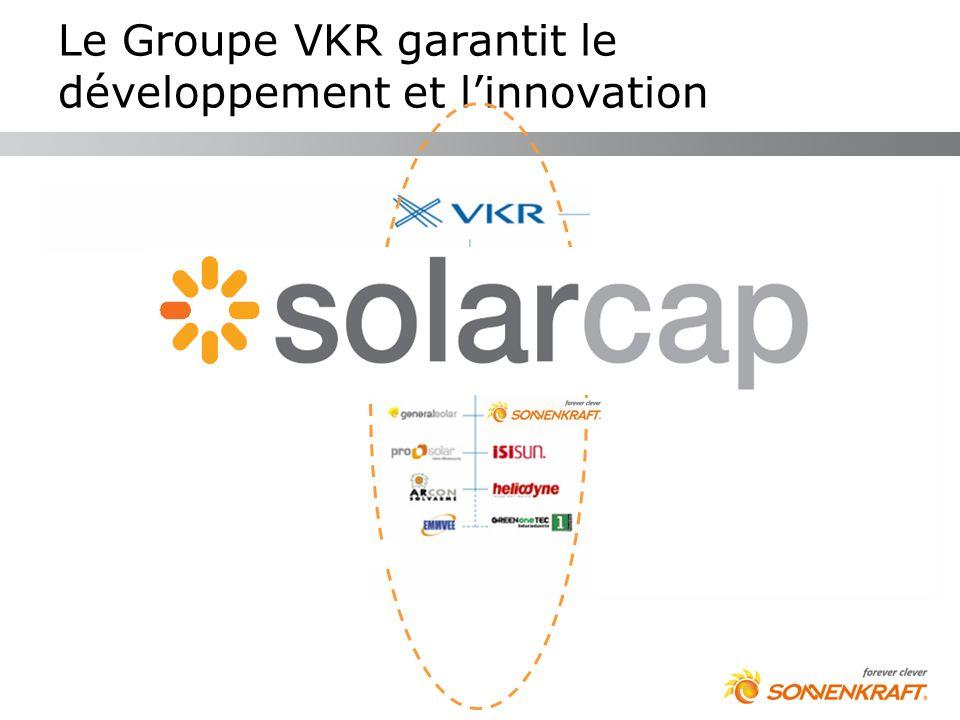 Le Groupe VKR garantit le développement et linnovation Fenêtres verticales Ventilation naturelle Fenêtres de toit & Conduits de lumière Energie Solair