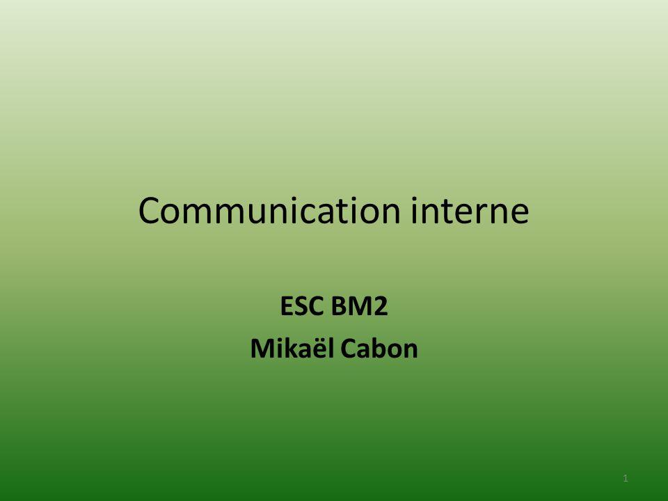 Communication interne ESC BM2 Mikaël Cabon 1