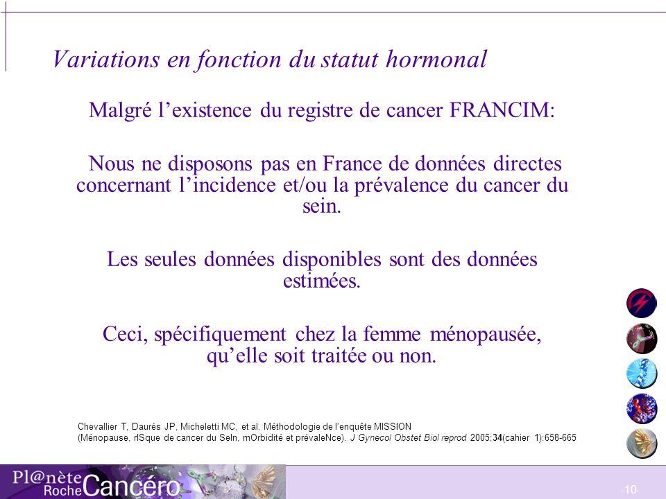 -11- Epidémiologie du cancer du sein en Europe et aux Etats-Unis