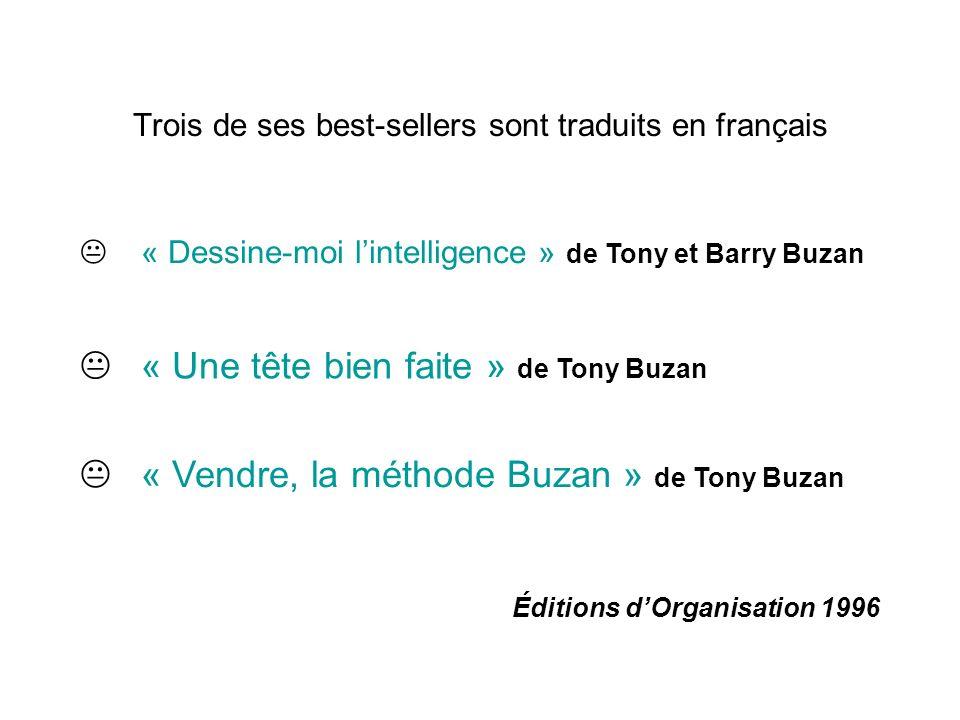 Trois de ses best-sellers sont traduits en français « Dessine-moi lintelligence » de Tony et Barry Buzan « Une tête bien faite » de Tony Buzan « Vendr