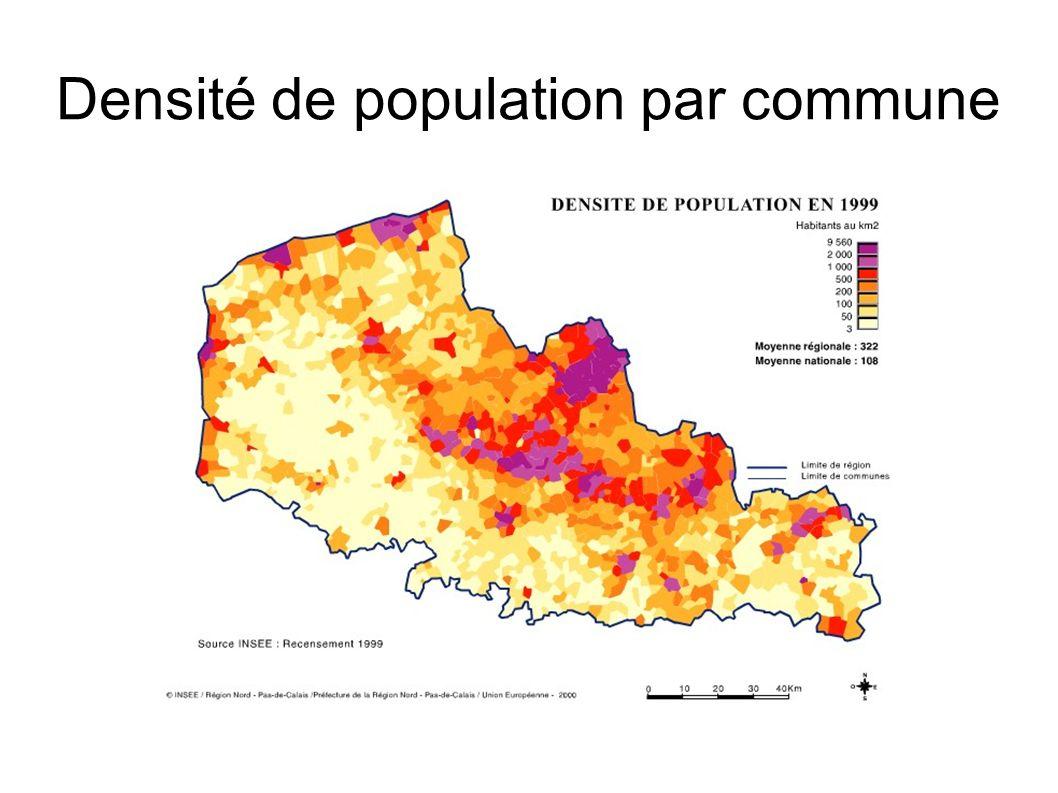 Densité de population par commune