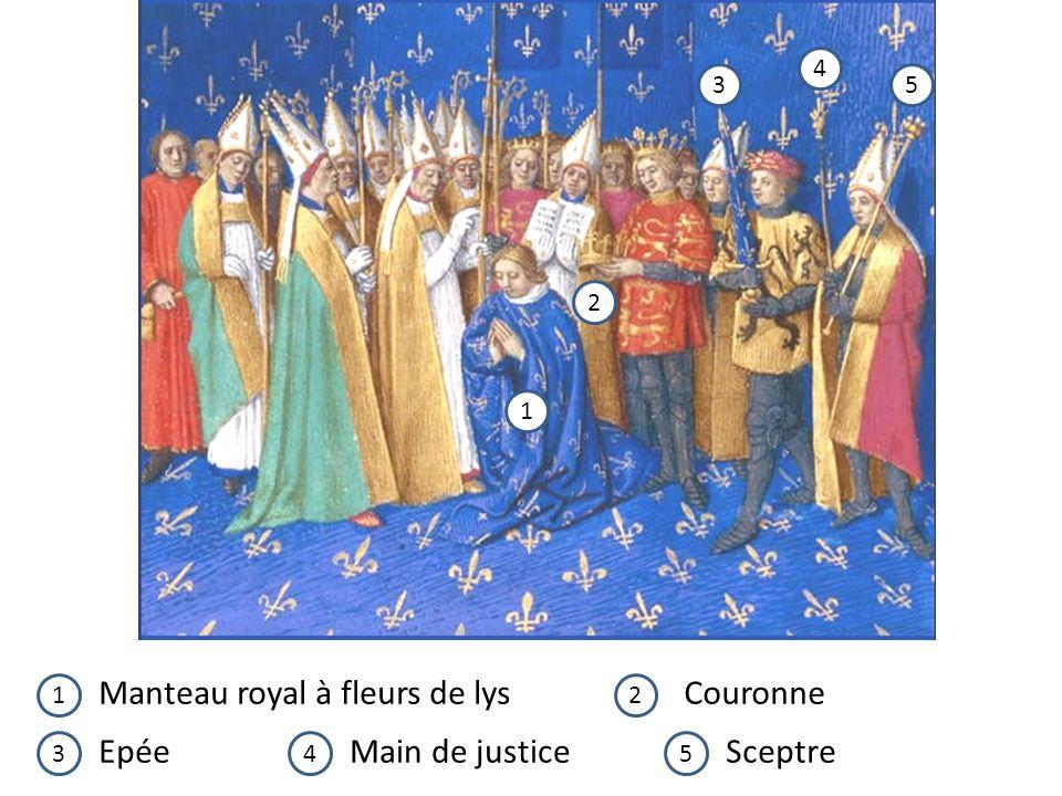 1 2 3 4 5 12 345 Manteau royal à fleurs de lysCouronne EpéeMain de justiceSceptre