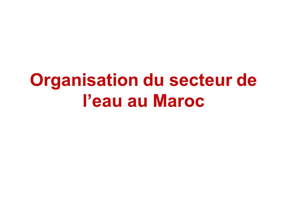 Organisation du secteur de leau au Maroc