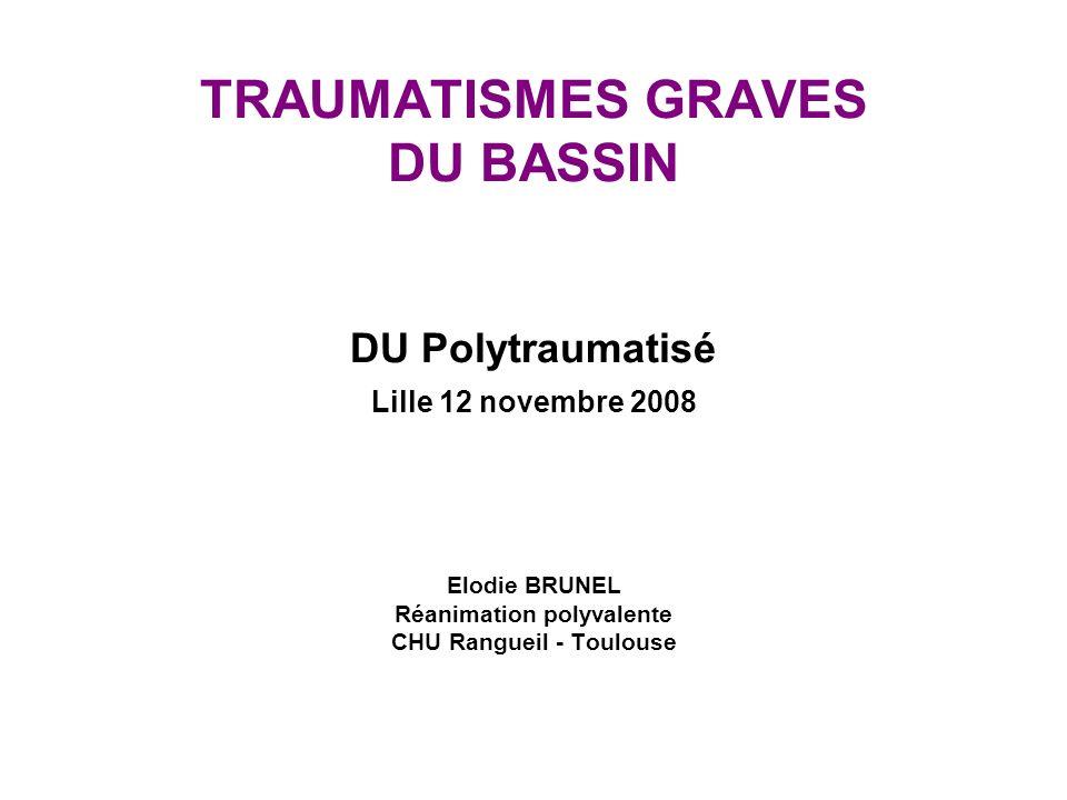 FAST Echo dans le trauma du bassin Friese et al J Trauma Jul 2007 FAST +FAST - X / TDM + 1131 X / TDM - 252 Sensibilité 11/42 = 26 % Spécificité 52/54 = 96 % VPP 11/13 = 85% VPN 52/83 = 63% Internes chir > 3ème année, formés
