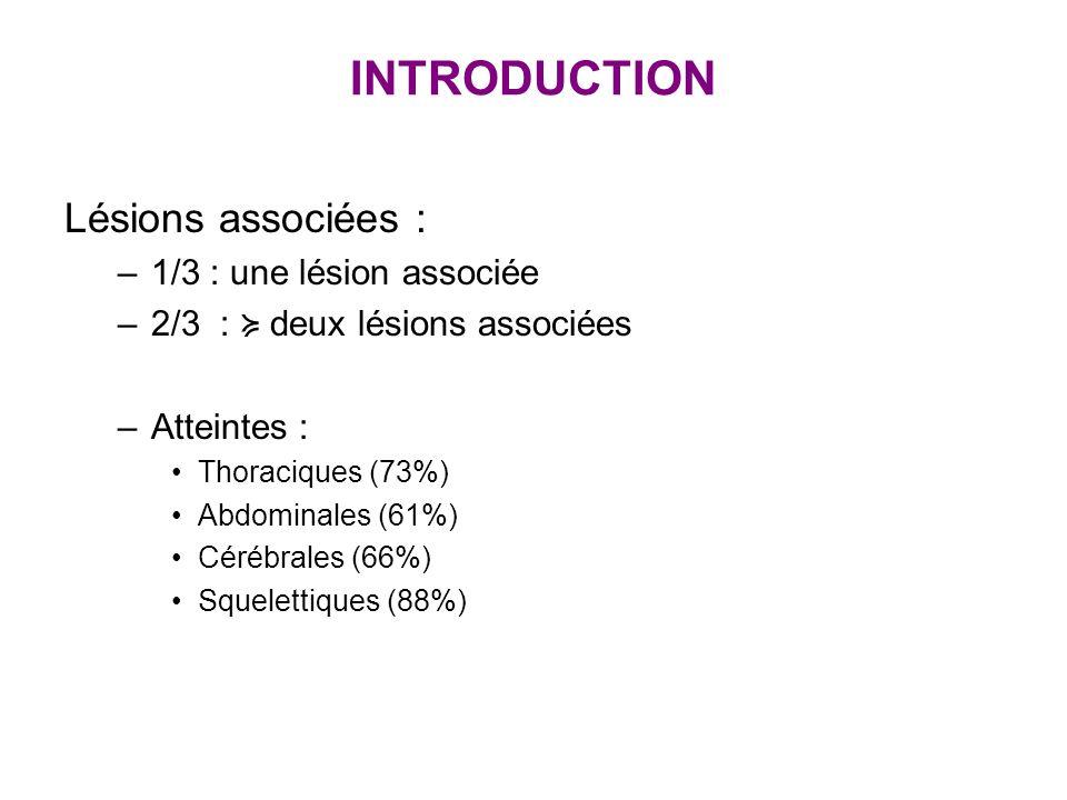 PRISE EN CHARGE : REANIMATION Choc hémorragique Facteurs VIIa* Indications dans saignement actif -après ttt par antifibrinolytique -Ac tranexamique Adulte Enfant * Dutton J Trauma.2004, Boffard J Trauma 2005 Avec : - plaq > 50000, Hb>7g/dl,TP>30% - fibrinogène>1g/l - protidémie>30g/l - calcium ionise >50 mg/l - température>35°C Ne remplace pas la chirurgie ni lartérioembolisation Dose : 80 µg / Kg (?)