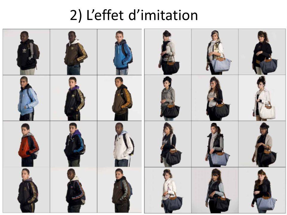 2) Leffet dimitation