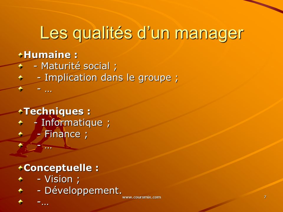 www.coursmix.com 78 < 2,5 Stratégie inefficace < 2,5 Stratégie inefficace > 2,5 Stratégie efficace > 2,5 Stratégie efficace = 2,5 Stratégie de lentreprise est moyenne = 2,5 Stratégie de lentreprise est moyenne