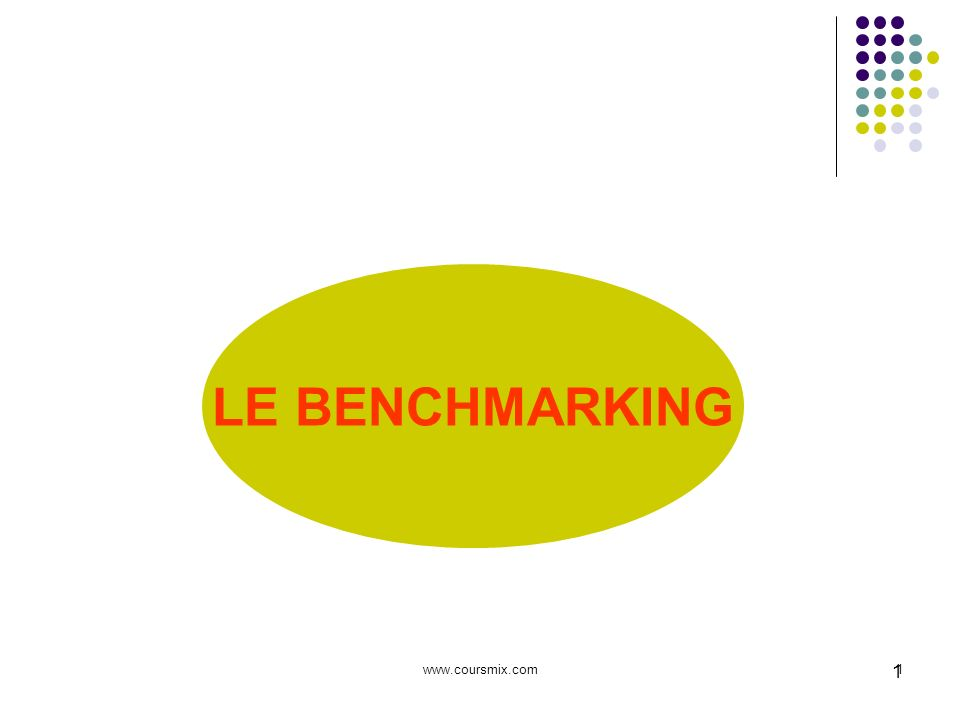 www.coursmix.com2 2 POURQUOI FAIRE DU BENCHMARKING .