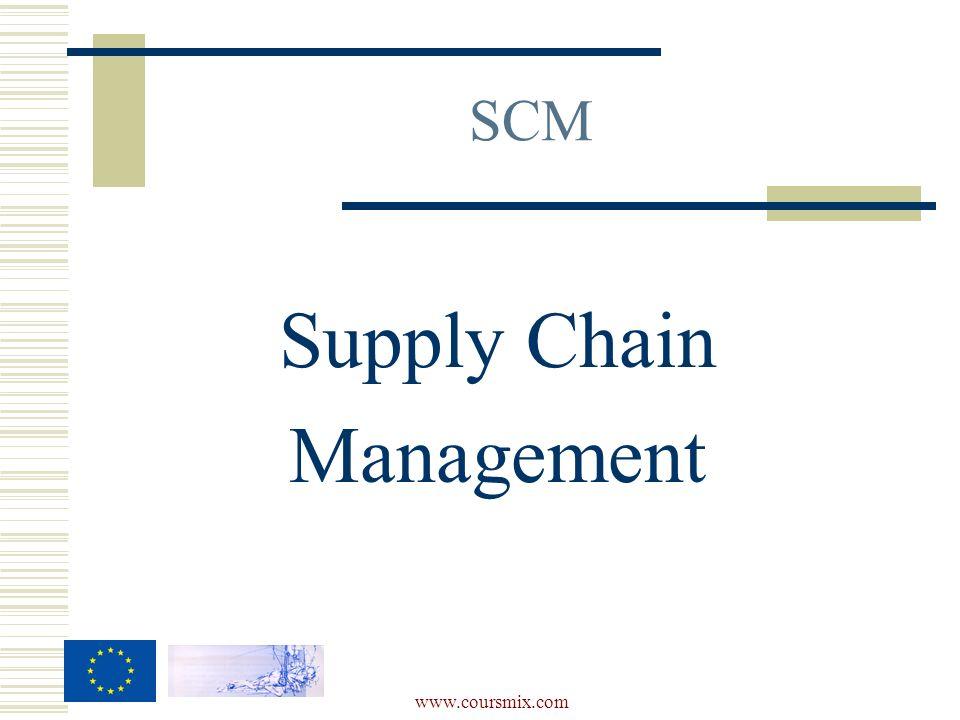 www.coursmix.com Supply Chain Management SCM
