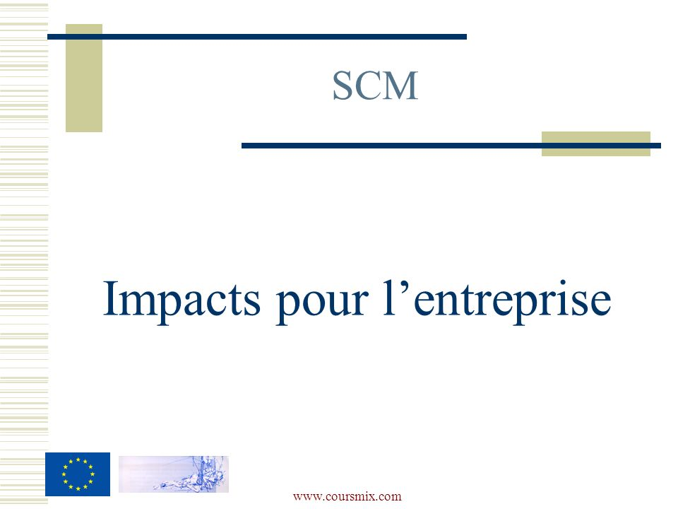 www.coursmix.com SCM Impacts pour lentreprise