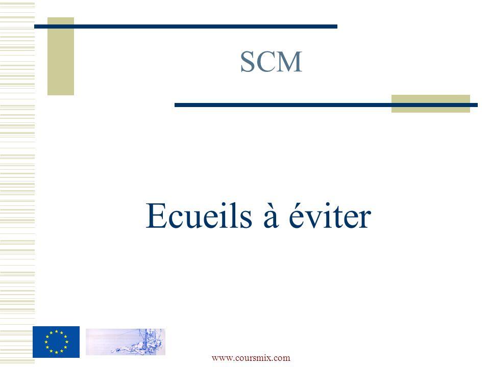 www.coursmix.com SCM Ecueils à éviter
