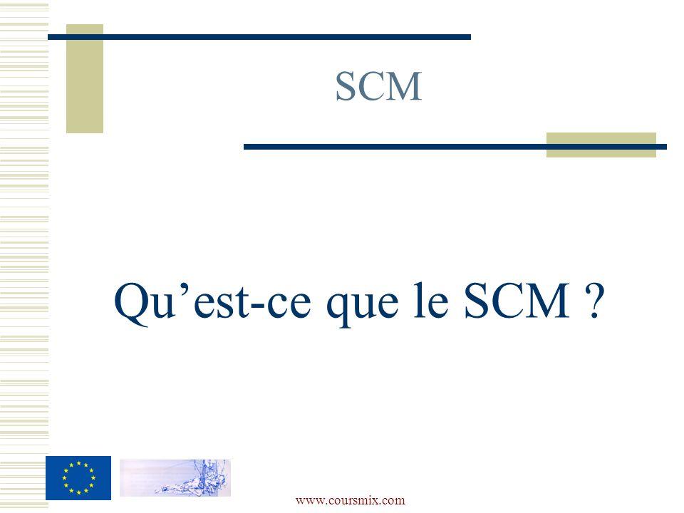 www.coursmix.com SCM Quest-ce que le SCM ?
