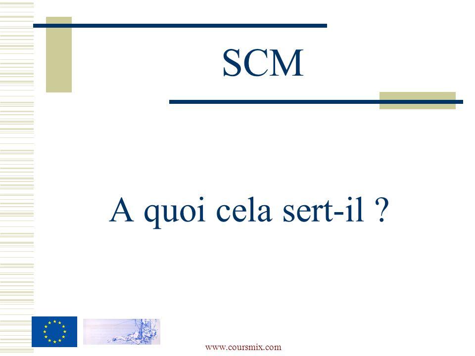 www.coursmix.com A quoi cela sert-il ? SCM